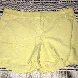 Yellow Chambray J.Crew Shorts